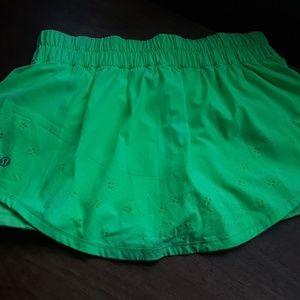 Lululemon Pace Setter Skirt/Skort; Neon Green; fa